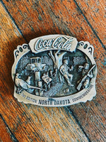 Coca Cola North Dakota Belt Buckle