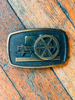 Cannon Brass Belt Buckle