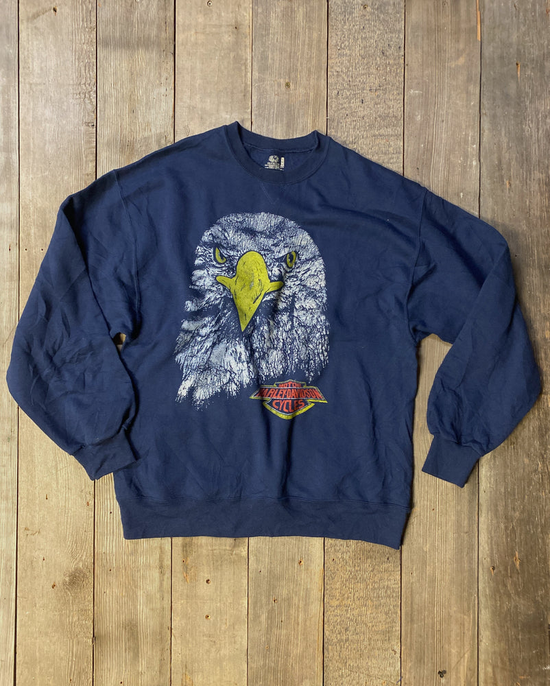 Load image into Gallery viewer, Vintage Harley Eagle Sweatshirt Sz L