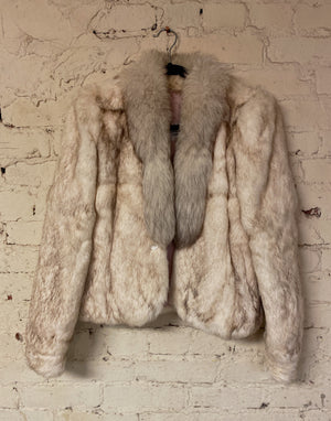Vintage Women's Rabbit Fur Coat Sz S
