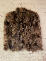 Vintage Women's Raccoon Fur Coat Sz L