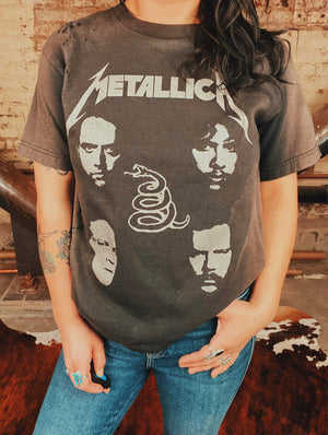 Load image into Gallery viewer, Chop Shop Vintage Metallica Tee Sz S