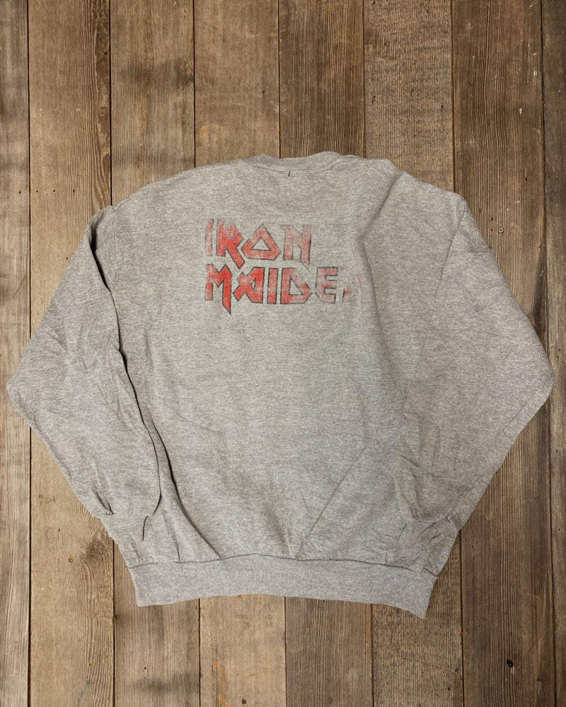 Load image into Gallery viewer, Vintage Iron Maiden Number Of The Beast Sweatshirt Sz L