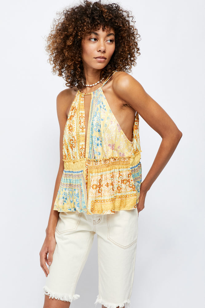 Bellini Patchwork Tank Top