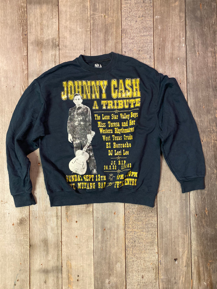 Load image into Gallery viewer, Vintage Johnny Cash Tribute Sweatshirt Sz M