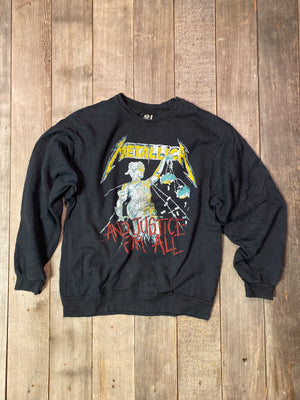 Vintage Metallica And Justice For All Sweatshirt Sz L