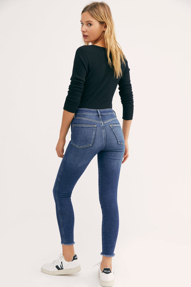 Raw High Rise Jeggings
