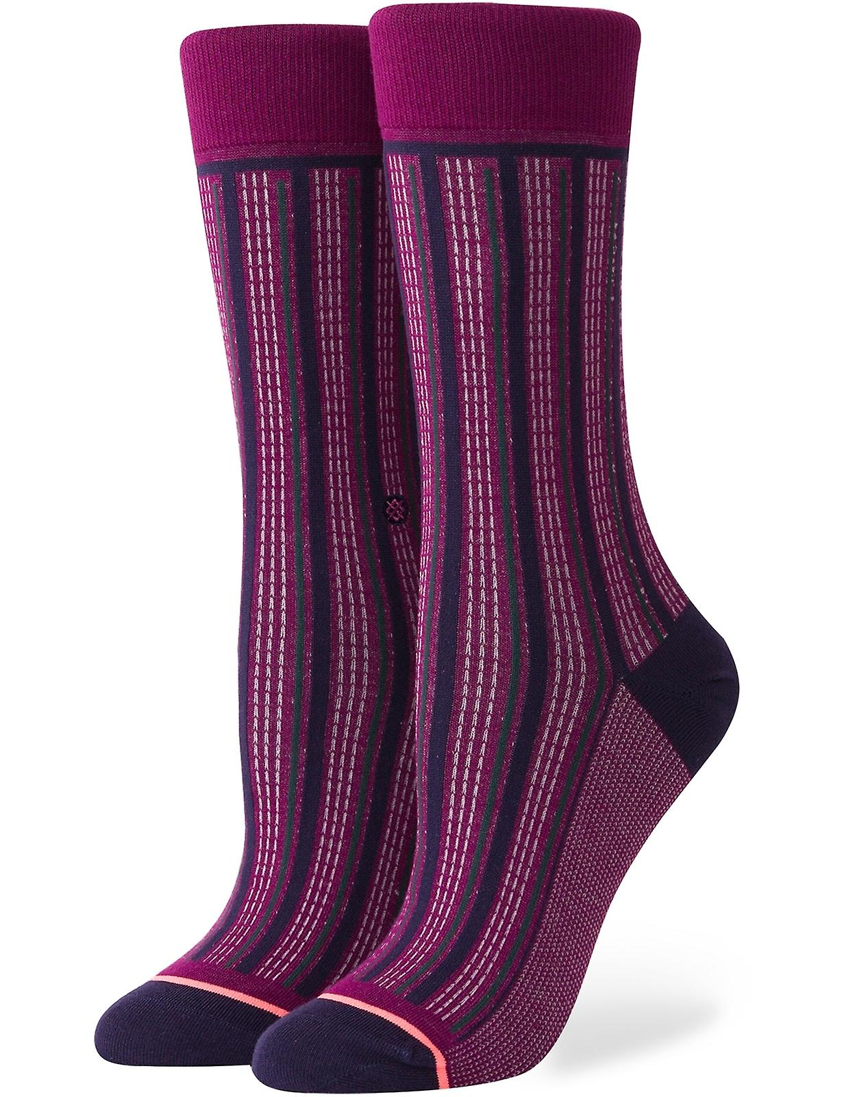 Stripe Down Crew Socks