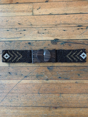 Load image into Gallery viewer, Beaded Elastic Belt