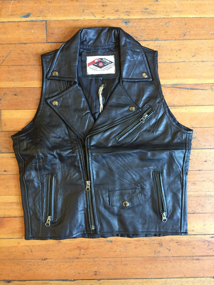 Load image into Gallery viewer, Reworked Leather Moto Vest