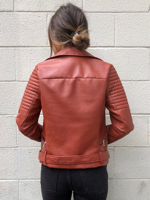 Winston Vegan Leather Moto Jacket