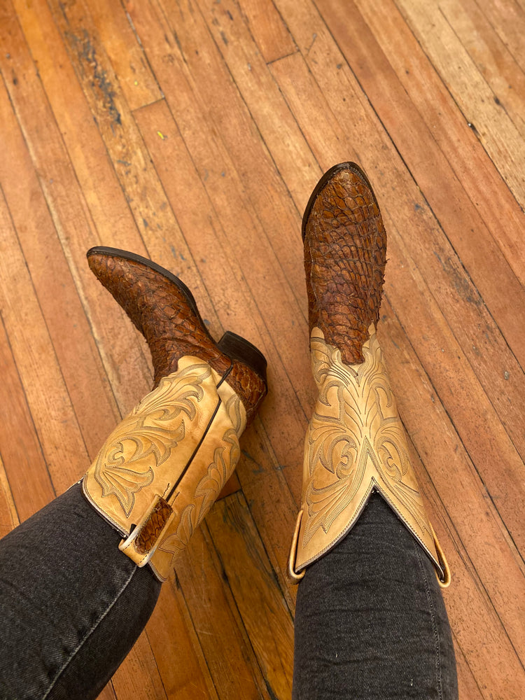 Load image into Gallery viewer, Dan Post W Sz 10 Cowboy Boots
