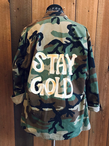 """Stay Gold"" Army Jacket"