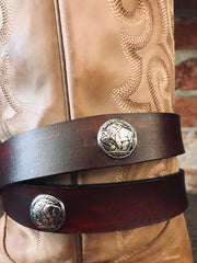 Buffalo Nickel Concho Belt