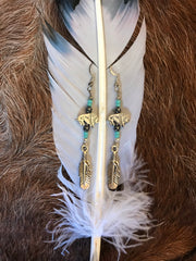 Buffalo Feather Earrings