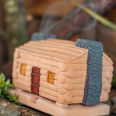 Santa Fe Incense Burner- Log Cabin