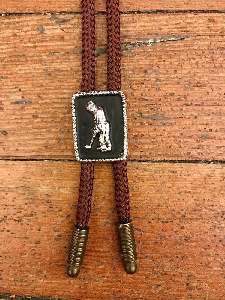 Load image into Gallery viewer, Vintage Golfer Bolo Tie