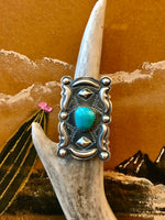 Sterling Silver and Turquoise Cloudcroft Ring