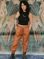 Lucky Strike Vegan Leather Joggers