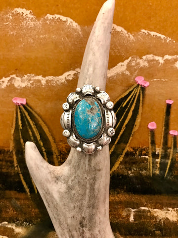 Sterling Silver and Turquoise Maritza Ring