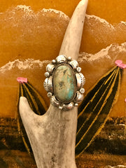 Sterling Silver and Turquoise Elida Ring