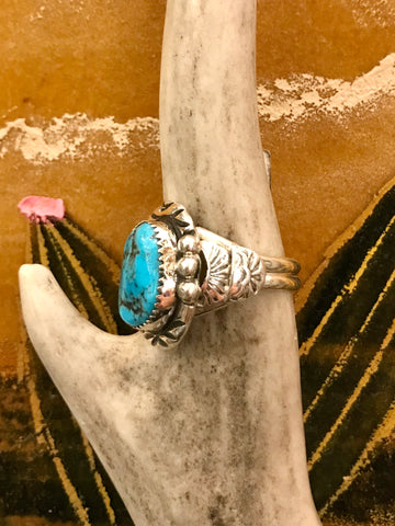 Sterling Silver and Turquoise Tatum Ring