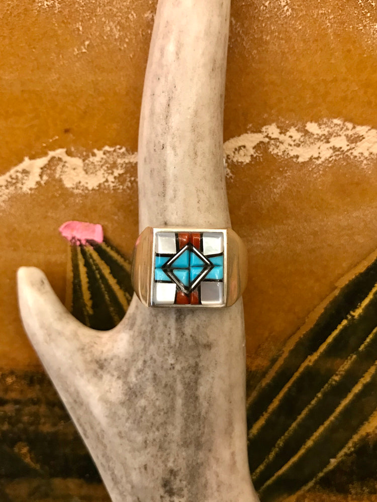 Sterling Silver and Turquoise Martez Ring