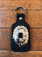Oval Concho Key Ring