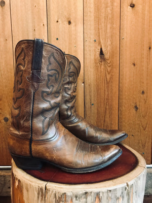 Lucchese Cowboy Boots M Sz 14