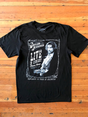 Load image into Gallery viewer, Waylon Jennings Live in Concert Tee