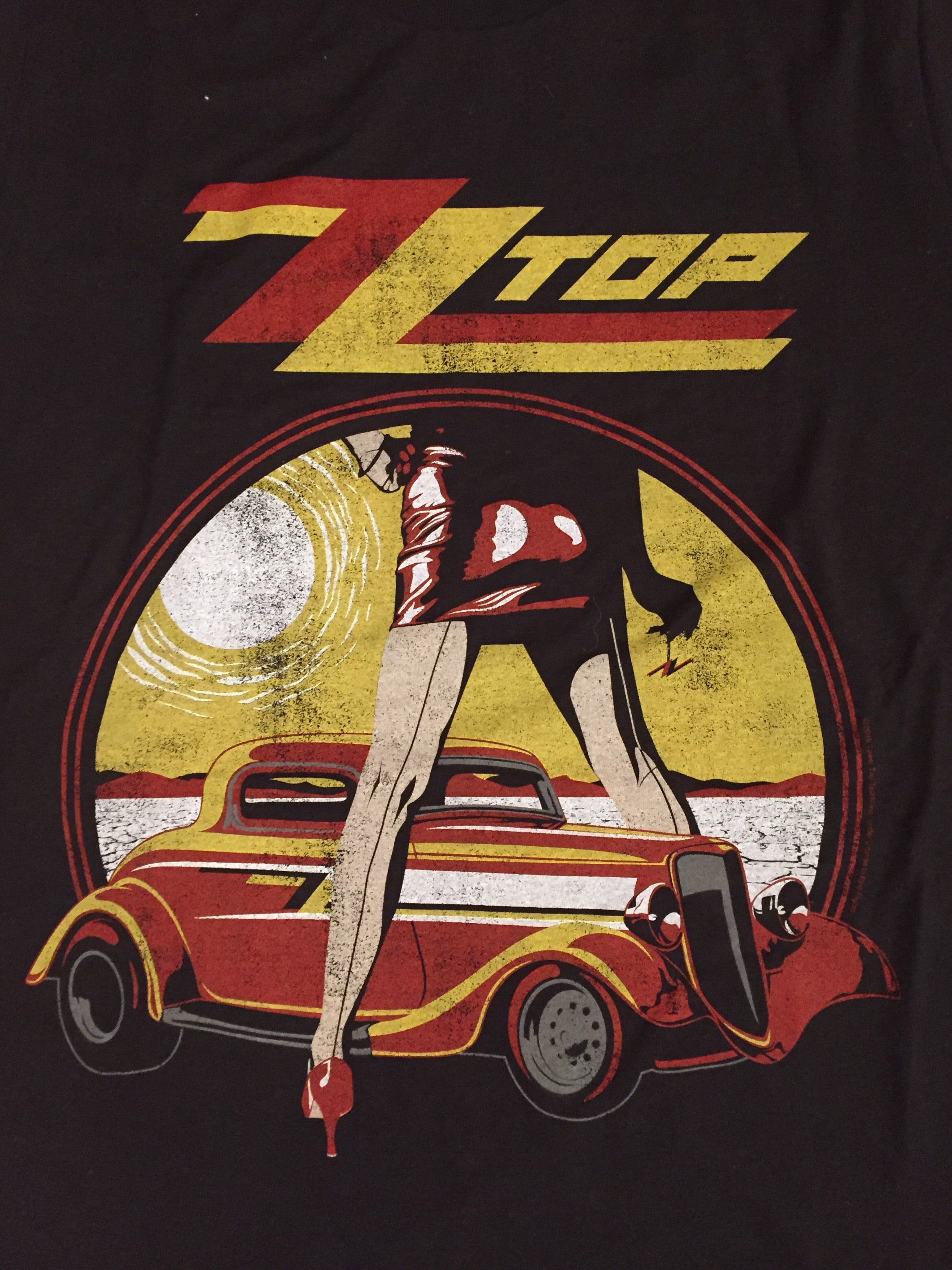 ZZ Top Car Rock Tee