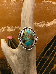 Sterling Silver and Turquoise Fly High Ring