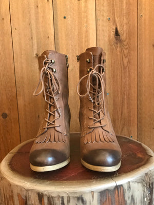 Load image into Gallery viewer, Ralph Lauren Lace Up Boots W Sz 8.5""
