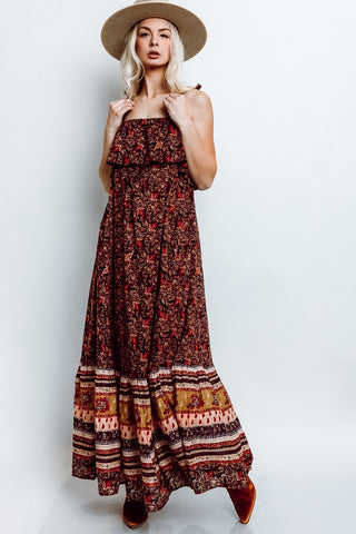 Tangier Babydoll Midi Dress