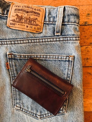 Brown Snap-front Wallet