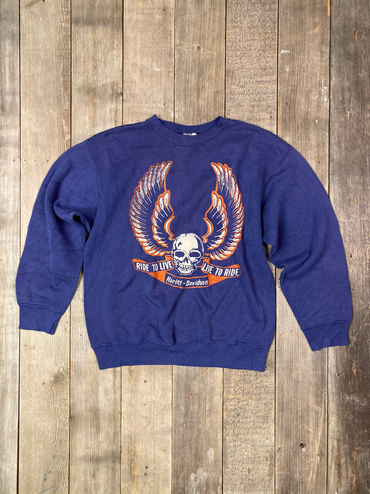 Load image into Gallery viewer, Vintage Harley Ride To Live Sweatshirt