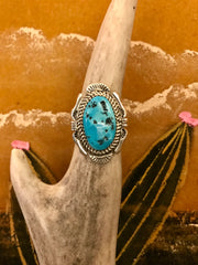 Sterling Silver and Turquoise Dora Ring