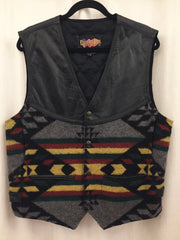 Vintage Leather and Wool Easy Rider Vest