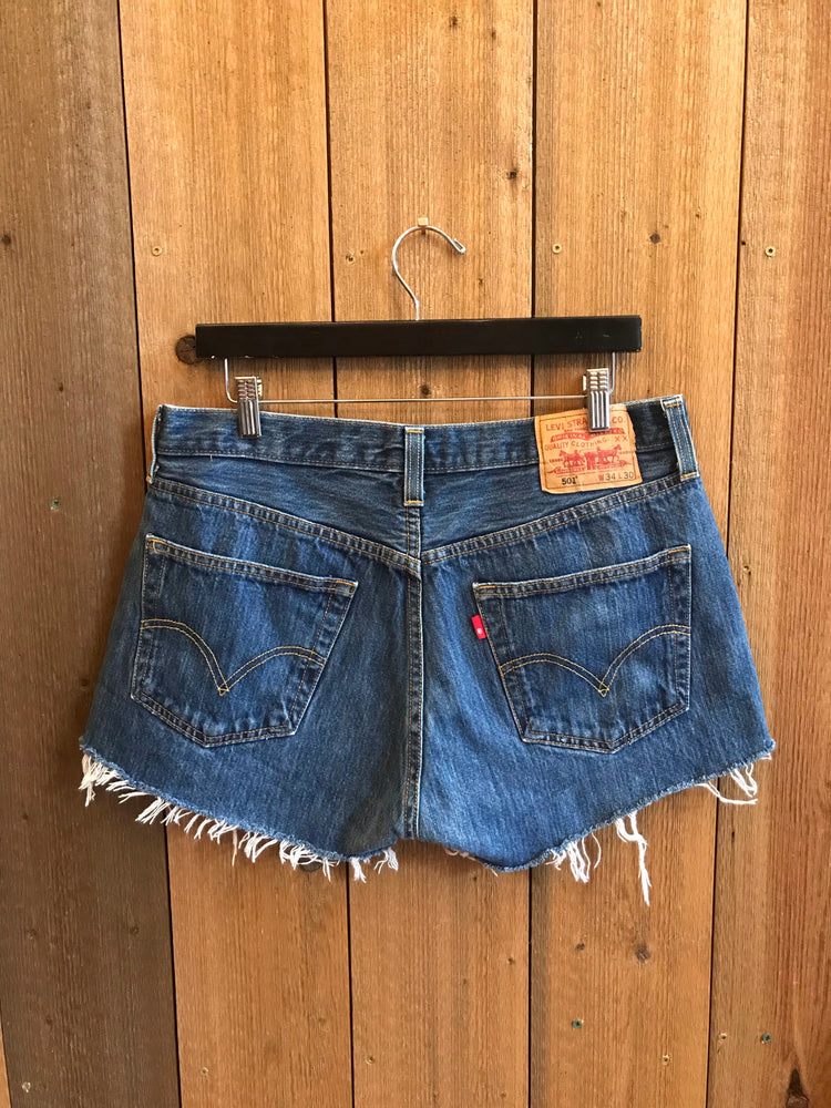 Vintage Denim Shorts Waist Sz 34""