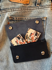 Live to Ride Trifold Chain Wallet