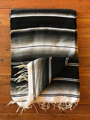 Load image into Gallery viewer, Black Serape Blanket