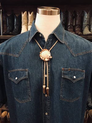 Load image into Gallery viewer, Vintage Antler Bolo Tie