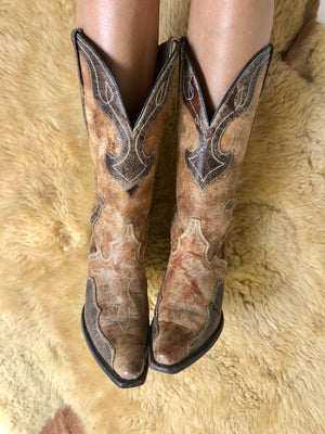 Load image into Gallery viewer, JB Dillion Cowboy Boots W Sz 6.5