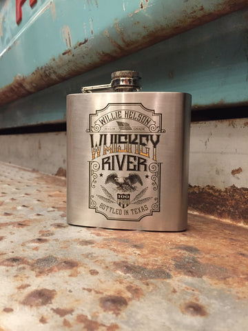 Willie Nelson Whiskey River Flask