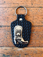 Cowboy Boot Concho Key Ring