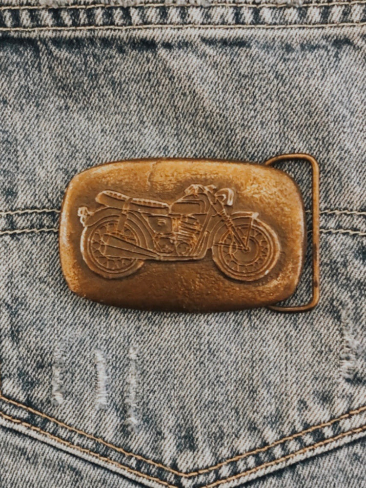 Load image into Gallery viewer, Vintage Motorcycle Belt Buckle