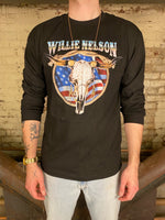 Willie Nelson Longhorn Americana Long Sleeve