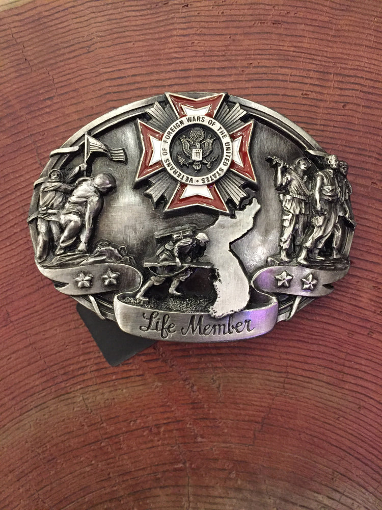 VFW Life Member Belt Buckle