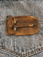 Vintage Motorcycle Belt Buckle