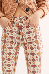 Wild Child Printed Skinny Jeans